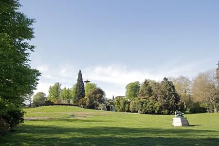 The esplanade of the Parc Montsouris Paris France