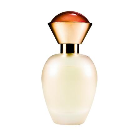 Perfume bottle isolated on a white background.