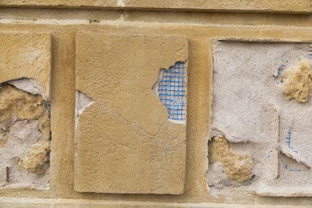Photo pour Wall broken you can see beneath it. - image libre de droit
