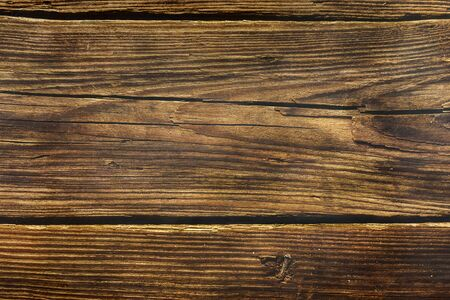 Photo for background from old wooden pine boards in dark - Royalty Free Image