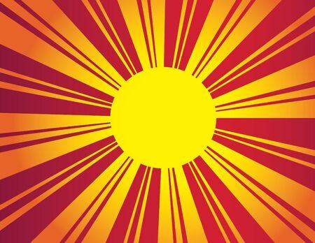 Illustration for Deco Sun - Royalty Free Image