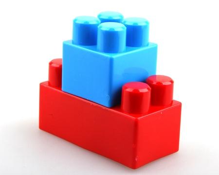 Photo pour Plastic building blocks. - image libre de droit