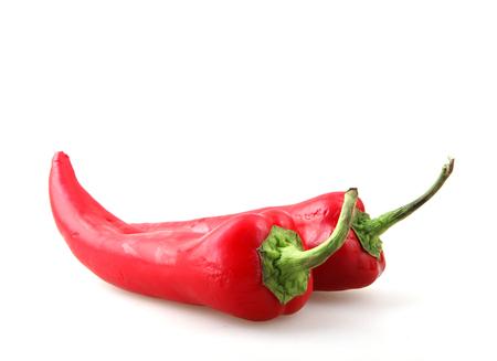 Foto für Red Pepper Isolated On White Background - Lizenzfreies Bild