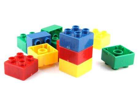 Photo pour Building Blocks Isolated On White - image libre de droit