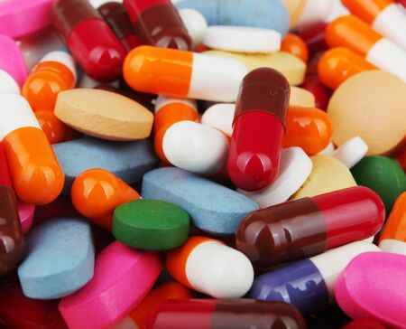 Photo pour Pills Of Many Shapes Grouped Together - image libre de droit