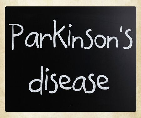 Parkinson's disease word on a blackboard