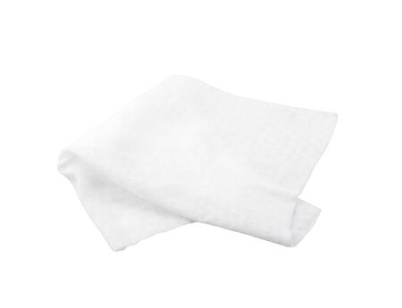 Photo pour Wet antibacterial wipes isolated on a white background - image libre de droit