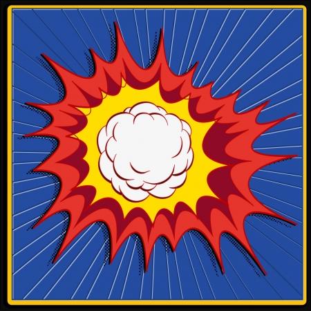 comic book explosion art