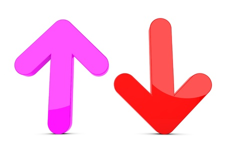 3d up and down arrow sign