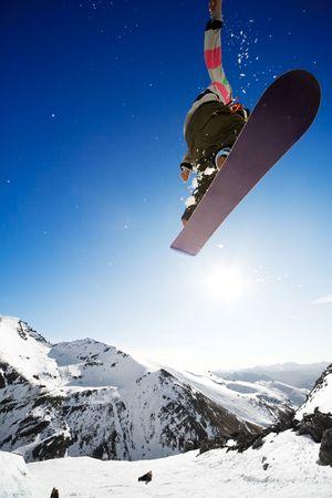 Snowboarder Air Jump