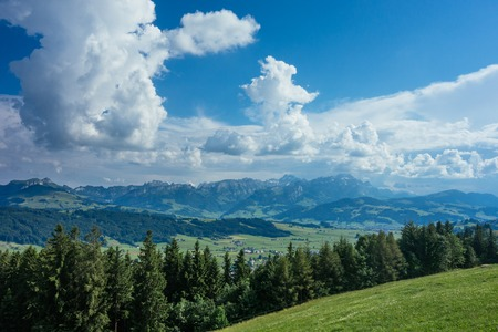 Hiking trip in Gais, a town in the swiss alps