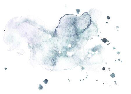 Photo pour Watercolor splash on white background. Grunge ink blot and drop texture - image libre de droit