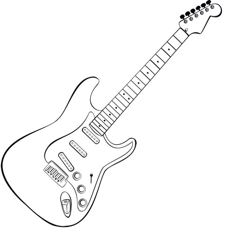 vector draw of a rock guitar