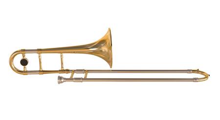 Photo pour Brass Trombone - image libre de droit