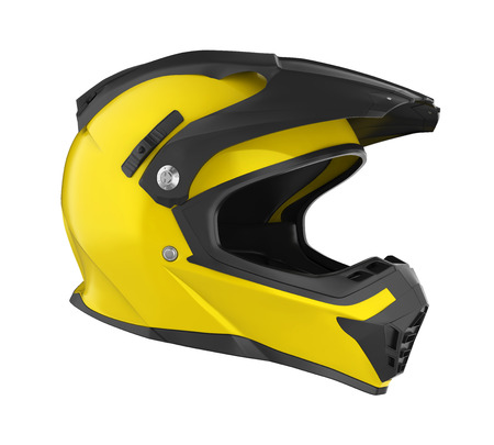 Photo for Motocross Helmet Isolated - Royalty Free Image