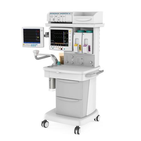 Photo pour Anesthesia Machine Isolated - image libre de droit