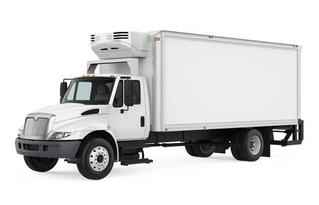 Photo for Refrigerated Truck Isolated - Royalty Free Image