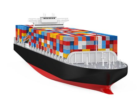 Photo for Container Ship Isolated - Royalty Free Image