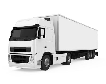 Photo for Container Truck Isolated - Royalty Free Image