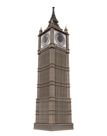 Foto für Big Ben Isolated - Lizenzfreies Bild