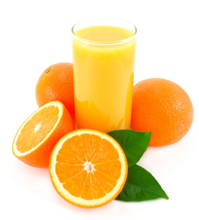 Orange and glass juice