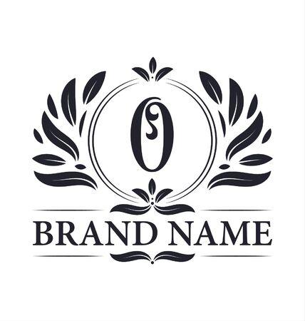 Illustration for Luxury logo design Letter O logo. Vintage elegant ornamental alphabet O letter logo design. - Royalty Free Image