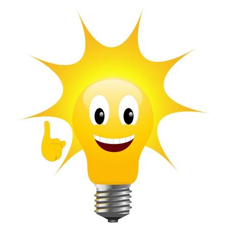 Light bulb with sun signifying solar energy