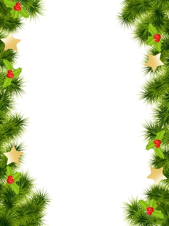 Christmas background with decorations. Vector illustration.のイラスト素材