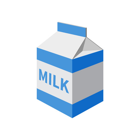 milk packet isolated on a  white background. Vector illustration.