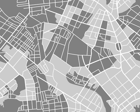 Ilustración de City map pattern. Seamless wallpaper. vector illustration - Imagen libre de derechos