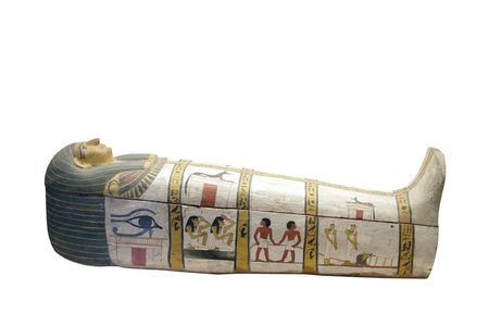 sarcophagus isolated on white background