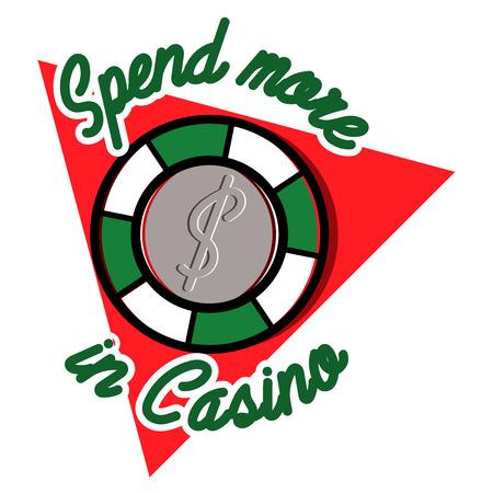 Color vintage casino emblem, excellent Vector illustration
