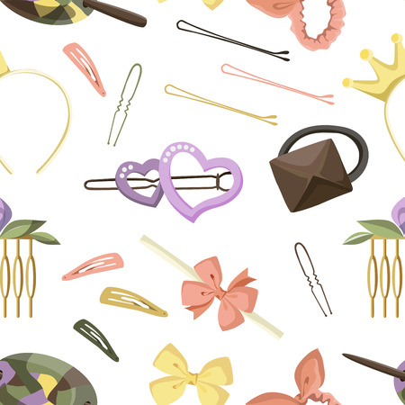 Hair Accessories Object Set pattern, Headband, Comb Hairpin Elastic