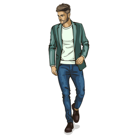 Illustration for Vector man model - Royalty Free Image