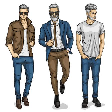 Illustration for Vector man models mannequin designer fashion clothing - Royalty Free Image