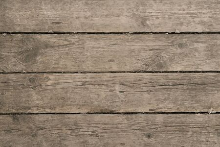 Photo pour old wooden background for your design. Wooden table or floor, parallel boards - image libre de droit