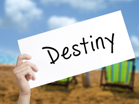 Destiny black marker on visual screen.  Business concept. Stock Photo