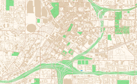 Atlanta Georgia printable map excerpt. This vector streetmap of downtown Atlanta is made for infographic and print projects.