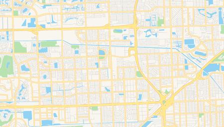 Empty vector map of Miami Gardens, Florida, USA, printable ...