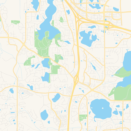 Empty vector map of Maple Grove, Minnesota, USA, printable ...