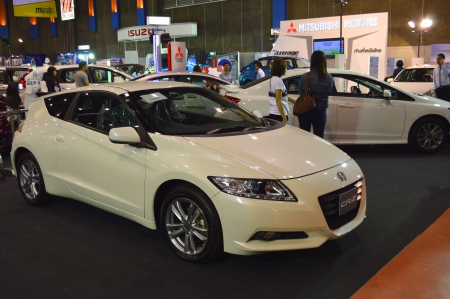 KORAT - DECEMBER 1   Honda CR-Z car on display at Motor Show at MCC Hall, The Mall on December 1, 2013 in Korat, Thailand