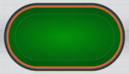Green Poker Table Vector Illustration