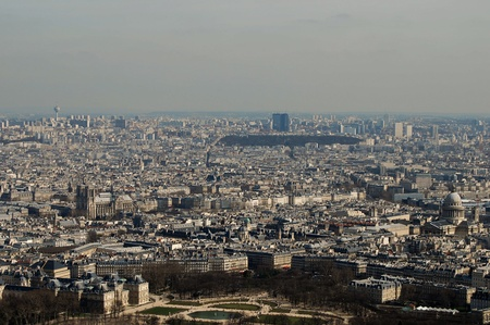 the city of Paris with its palaces, monuments and wonders