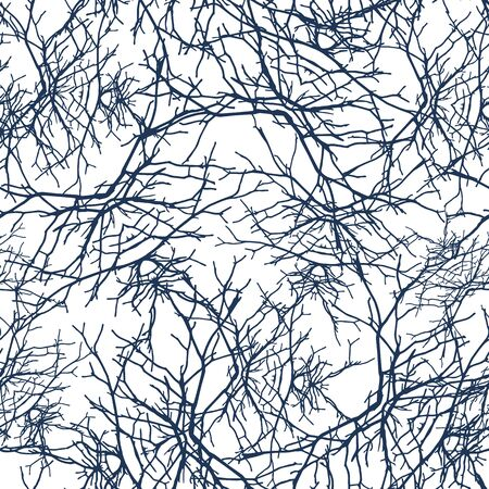 Openwork texture branches seamless pattern. Texture tracing with own original photos
