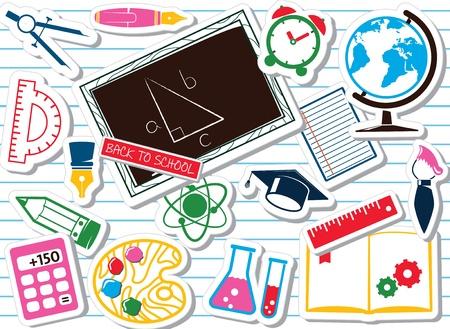 School supplies, colorful set