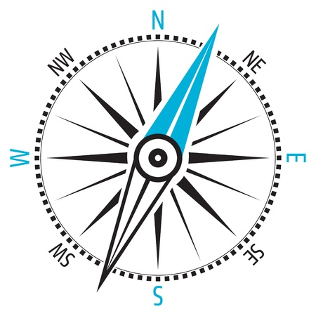 Illustration pour Wind rose, compass - image libre de droit