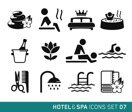 Hotel and Travel icons set 07のイラスト素材