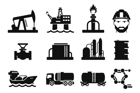Gas and Oil icons set 01
