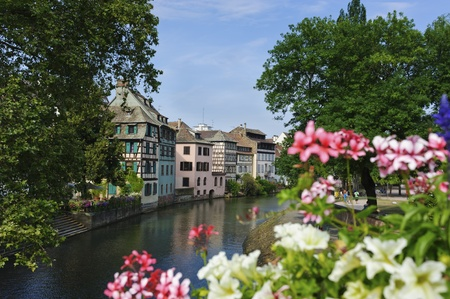 European Canal In Spring