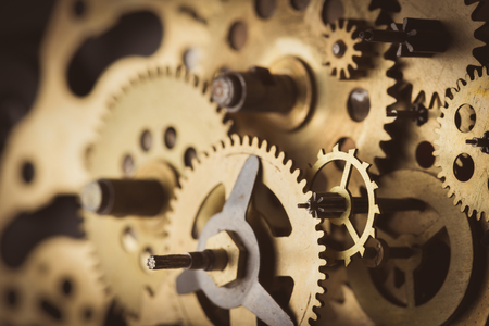 Photo pour Gears and cogs macro - image libre de droit